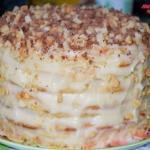 Творожный торт на сковородке.