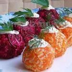 """Овощные шарики """"Сюрприз""""."""