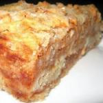 Сыпучий и очень вкусный пирог с яблоками.