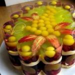 Желейно - фруктовый торт.