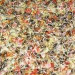 Пицца с тонкой хрустящей основой за 20 минут.