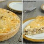 Лоранский пирог с курицей и грибами.