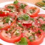 Маринованные помидоры за 10 минут.