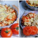 Куриное Филе запеченное с овощами и сыром.
