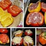 Перцы фаршированные.  Легко и просто приготовьте изумительное блюдо.