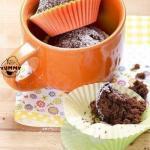 Быстрые шоколадные кексы без яиц.
