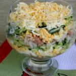 9 рецептов красивых салатов к новому году 2018.