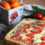 Сырно - помидорный пирог.