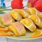 Апельсиновые печенья.  Ингредиенты: