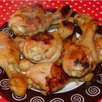 Куриные голени с луком.