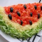 """Салат """"Арбуз"""".  Для приготовления салата понадобятся следующие ингредиенты *:"""