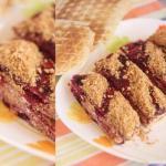 Вафельные пирожные с творожно - шоколадным кремом.