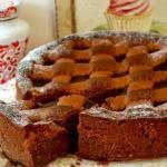 Шоколадный торт.  Основные ингредиенты для шоколадного песочного теста: