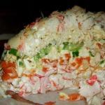 Салатик морской, слои перечислены сверху вниз.
