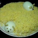 """Салат """"Мышки"""". Отличный вариант для праздничного стола?"""