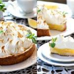 Тарт с лимонным кремом и безе.