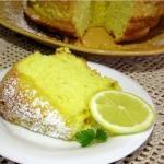 Лимонный бисквит.  Ингредиенты (на форму 20 см: