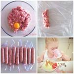 Куриные сосиски для детей.