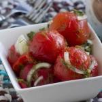 Помидоры закусочные.  Отличная закуска из свежих домашних помидорчиков!