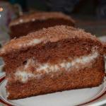Рекомендую!  Шоколадно - сметанный торт.